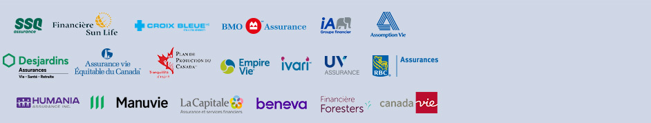 rbc, bnc, great west, la capitale, industrielle alliance, desjardins, sun life