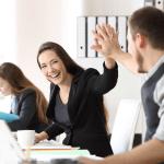 Employés heureux d'avoir la meilleure assurance collective
